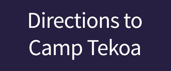 Directions to Camp Tekoa